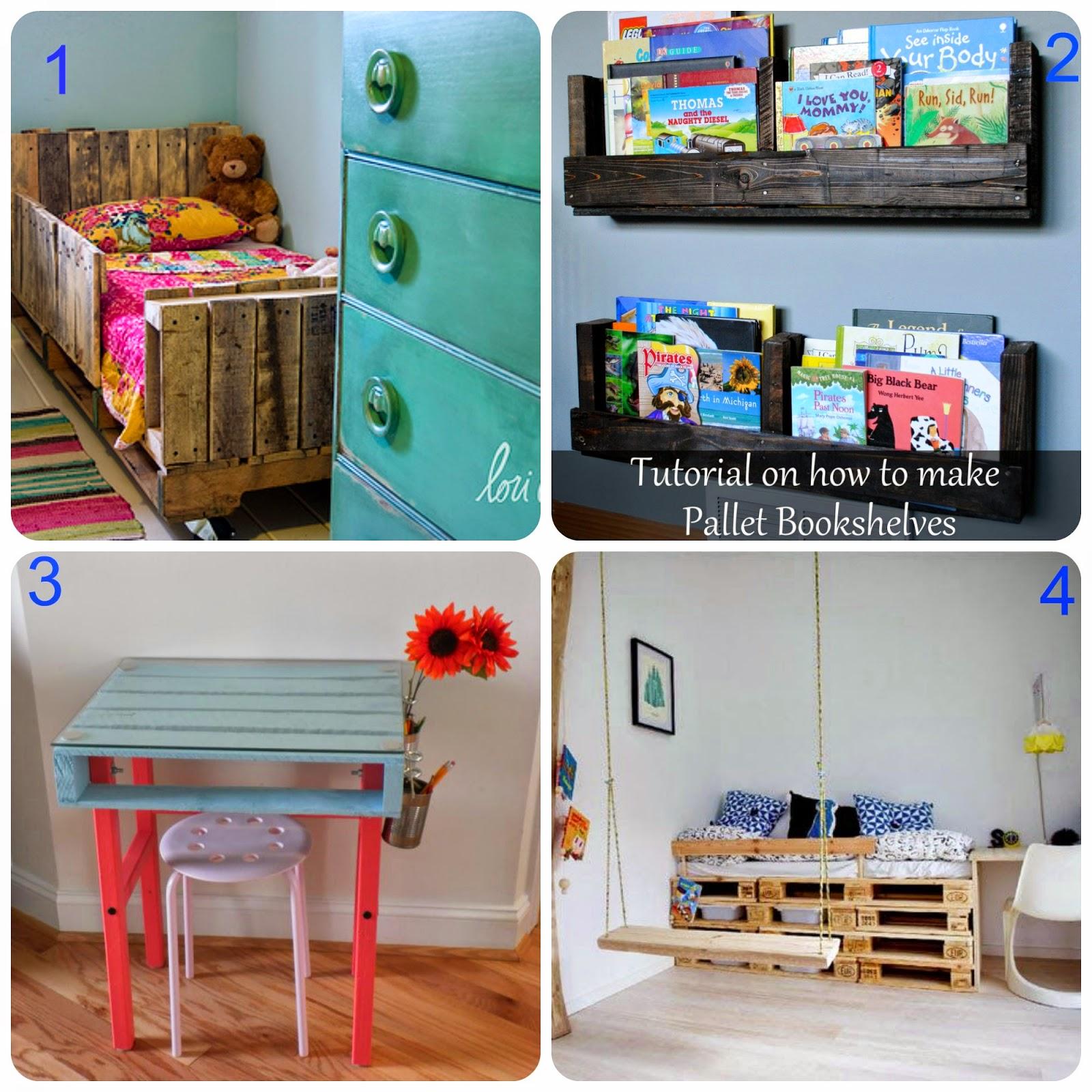 Riciclo pallet- Arredare la camera dei bimbi con pallet riciclati ...
