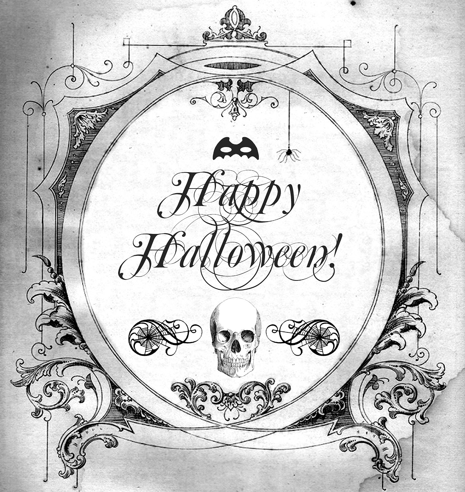 Halloween Free Printable For Transfers Prints Tags Anything At All