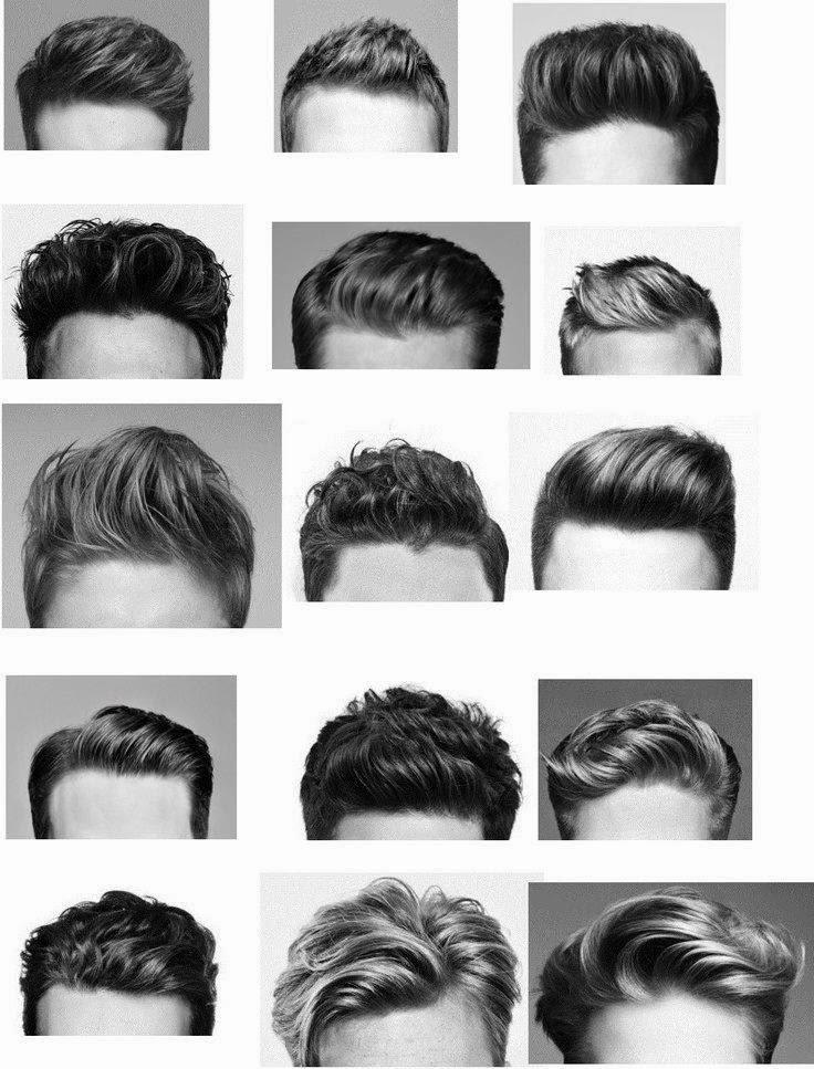 Escolhi vários tipos de topetes, para diferentes tipos de cabelo