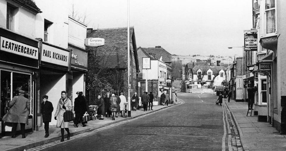 Cosham High Street at the top end