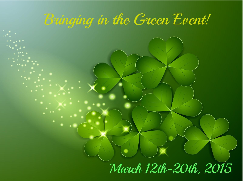 image Free March 2015 Blogger Opp Bringing in  the green March 12 -20th