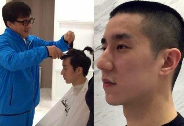 Anak Jeckie Chan Potong Rambut Tanda Berubah