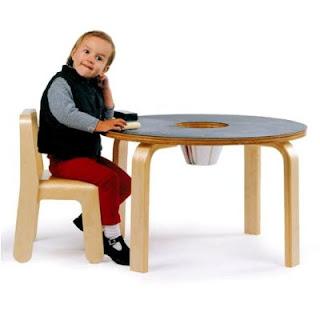 Kids Wood Chalkboard Table, Image