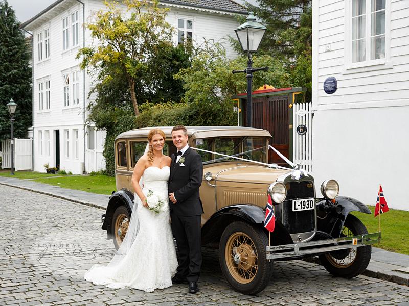 bryllup, leiebil, veteranbil