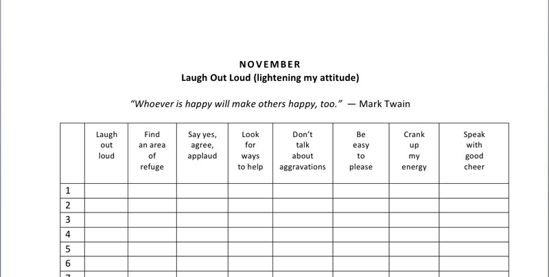 happiness project toolbox