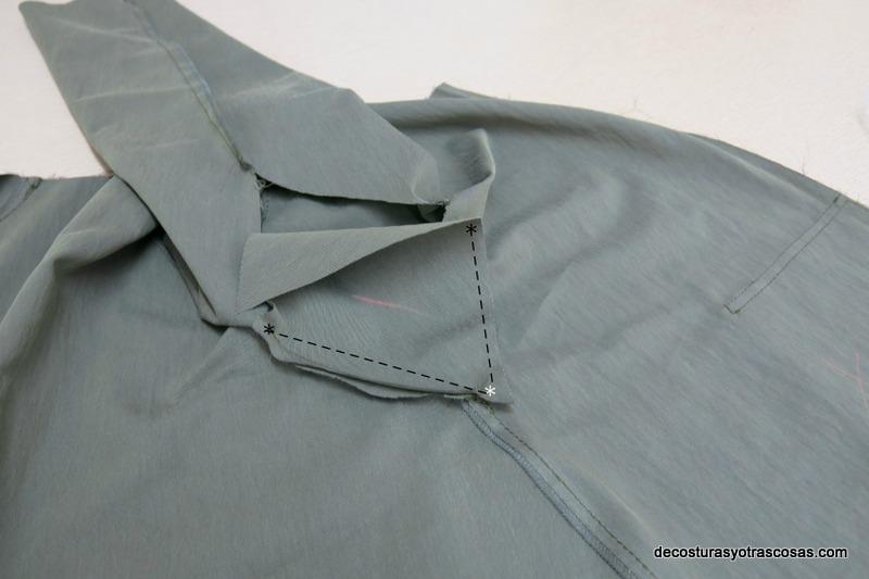 como coser manga con cuña