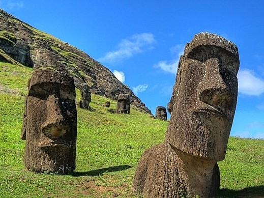 The Easter Island Heads Also Have Bodies