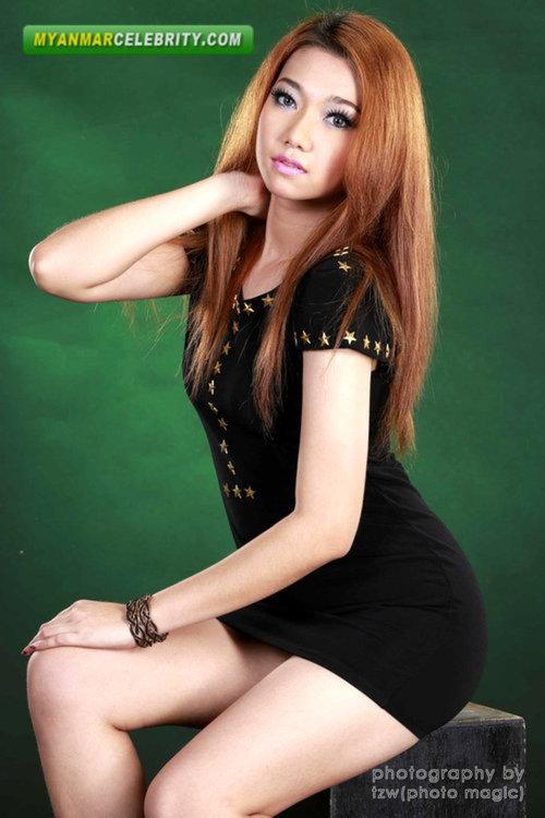 In black mini dress myanmar model girls supermodels photo gallery