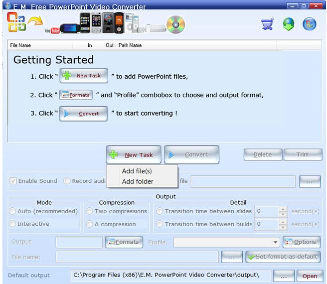 convertire powerpoint video