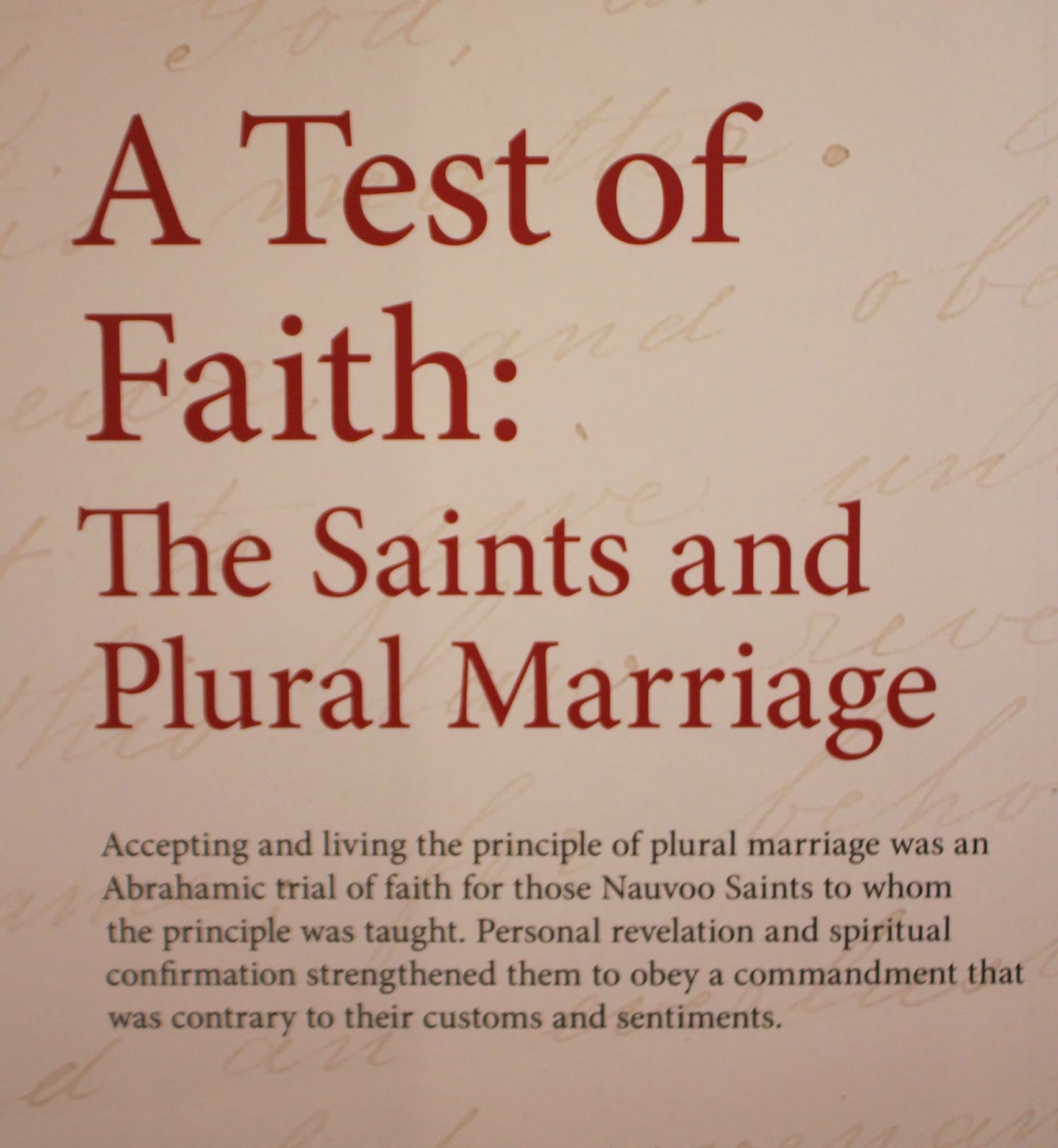 Plural Marriage in Kirtland and Nauvoo
