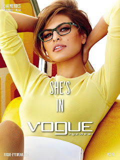 Vogue Eyewear SS2013 Ad Campaign featuring Eva Mendes
