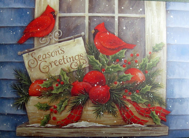 christmas Birds card Photo