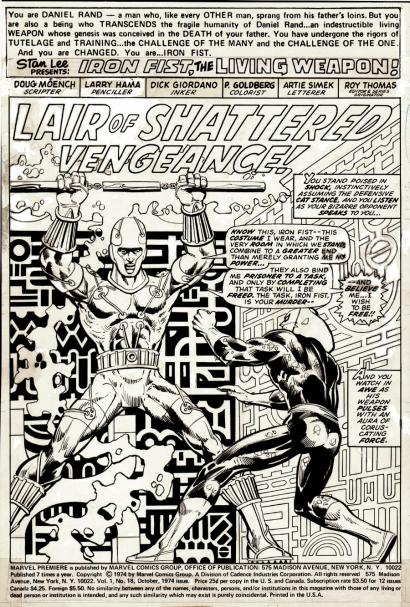 Splash Page: Marvel Premiere