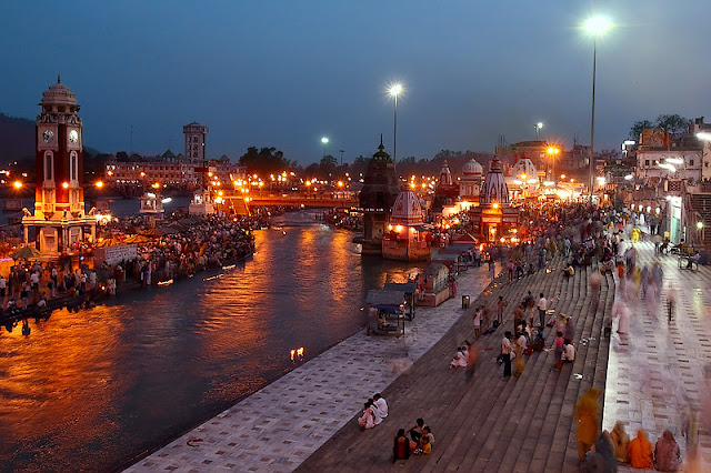 Haridwar wallpapers view at night