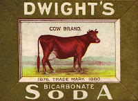Antique Advertisement Graphics Cow Image