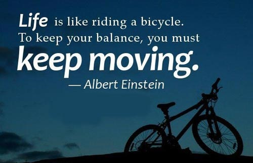 Motivation Quotes : Life is like riding a bicycle - Kshitij Yelkar