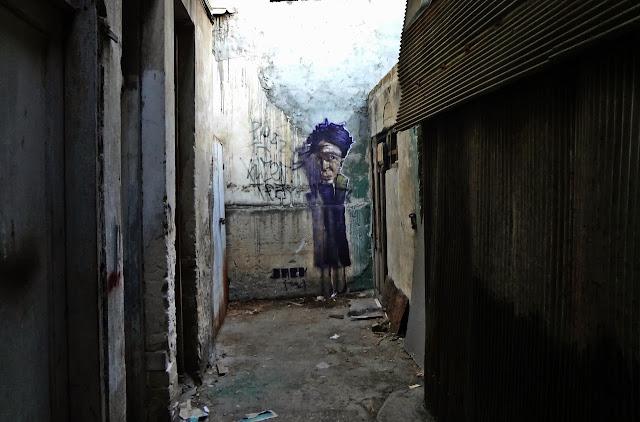 Street Art By Israeli Urban Artist Jack TML on the streets of Tel Aviv, Israel. 1