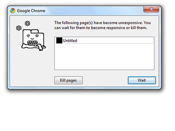 image of the kill page or wait fromChrome