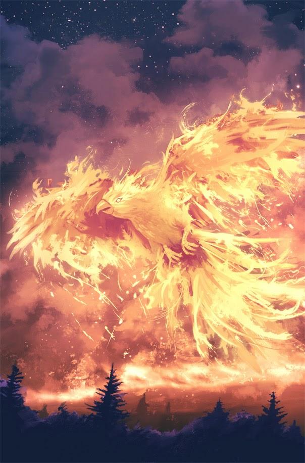 illustration de Sylvain «Tohad» Sarrailh représentant un oiseau de feu