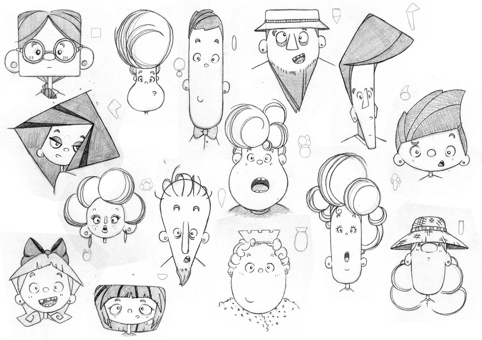 Character Design Head Shapes : Lucy marie illustration face shapes
