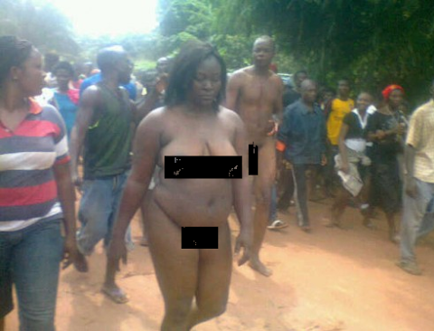 Adulteress and Lover Stripped N*ked Publicly In Benue State (Photos)