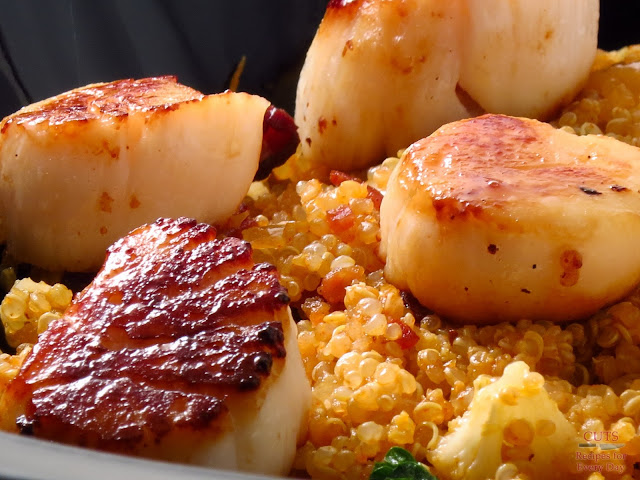 Scallops + Bacon + Quiona