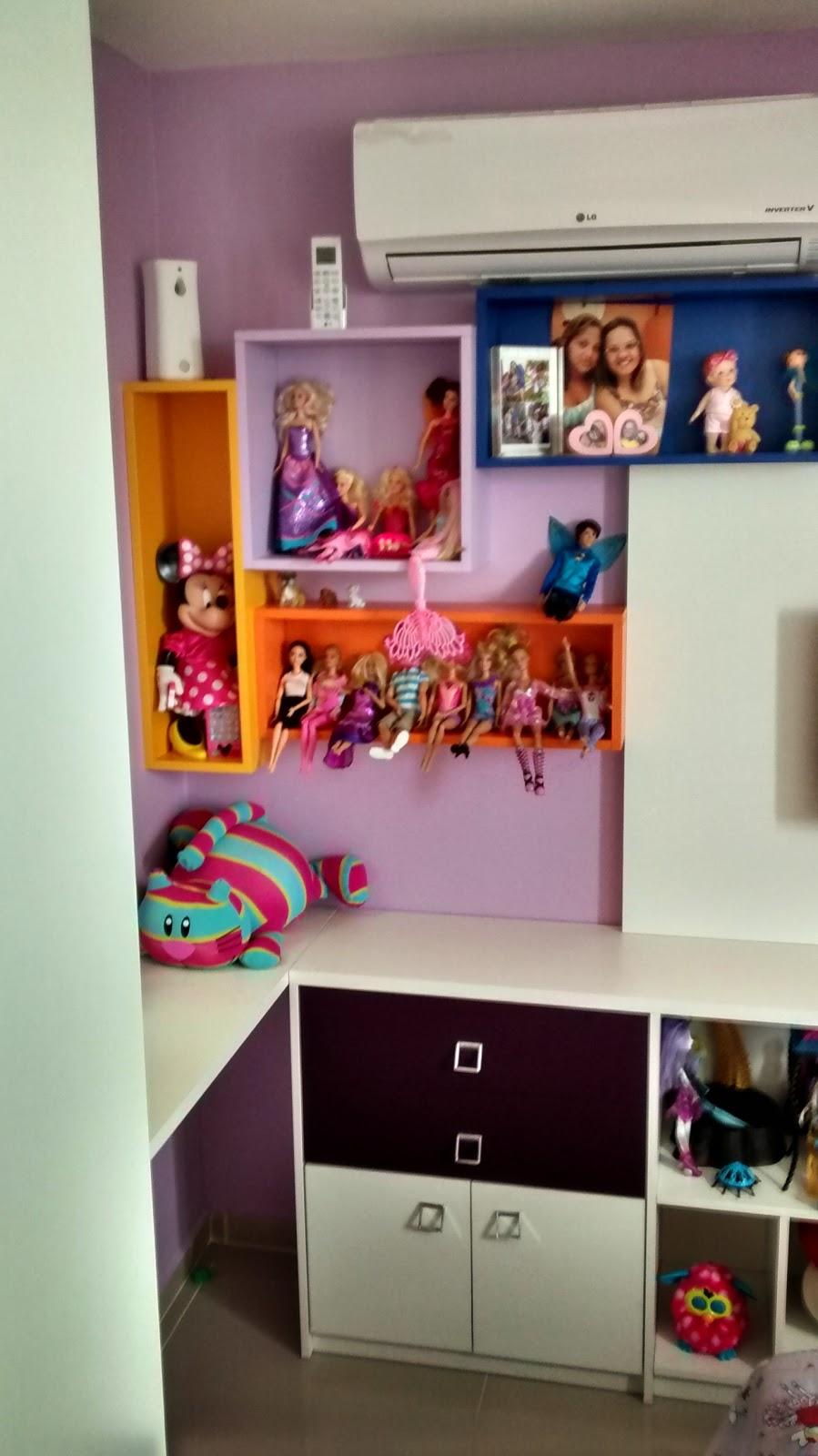 nichos para quarto de menina