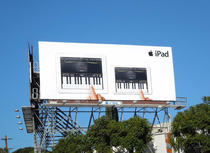 Apple iPad mini piano billboard
