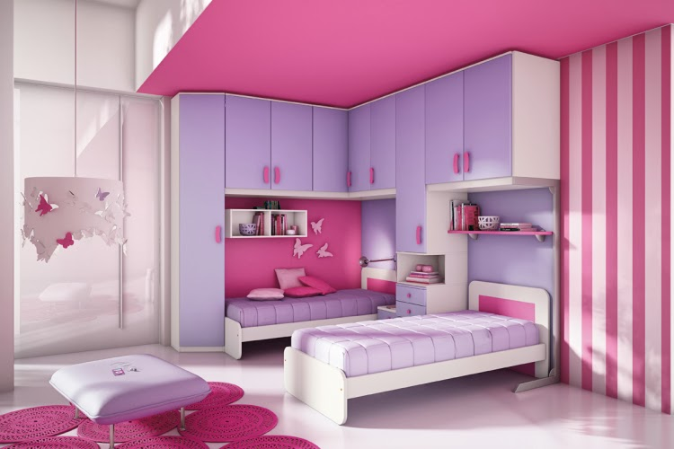 Dormitorio lila y rosa para ni as habitaci n para ni as for Cuartos de nina violeta