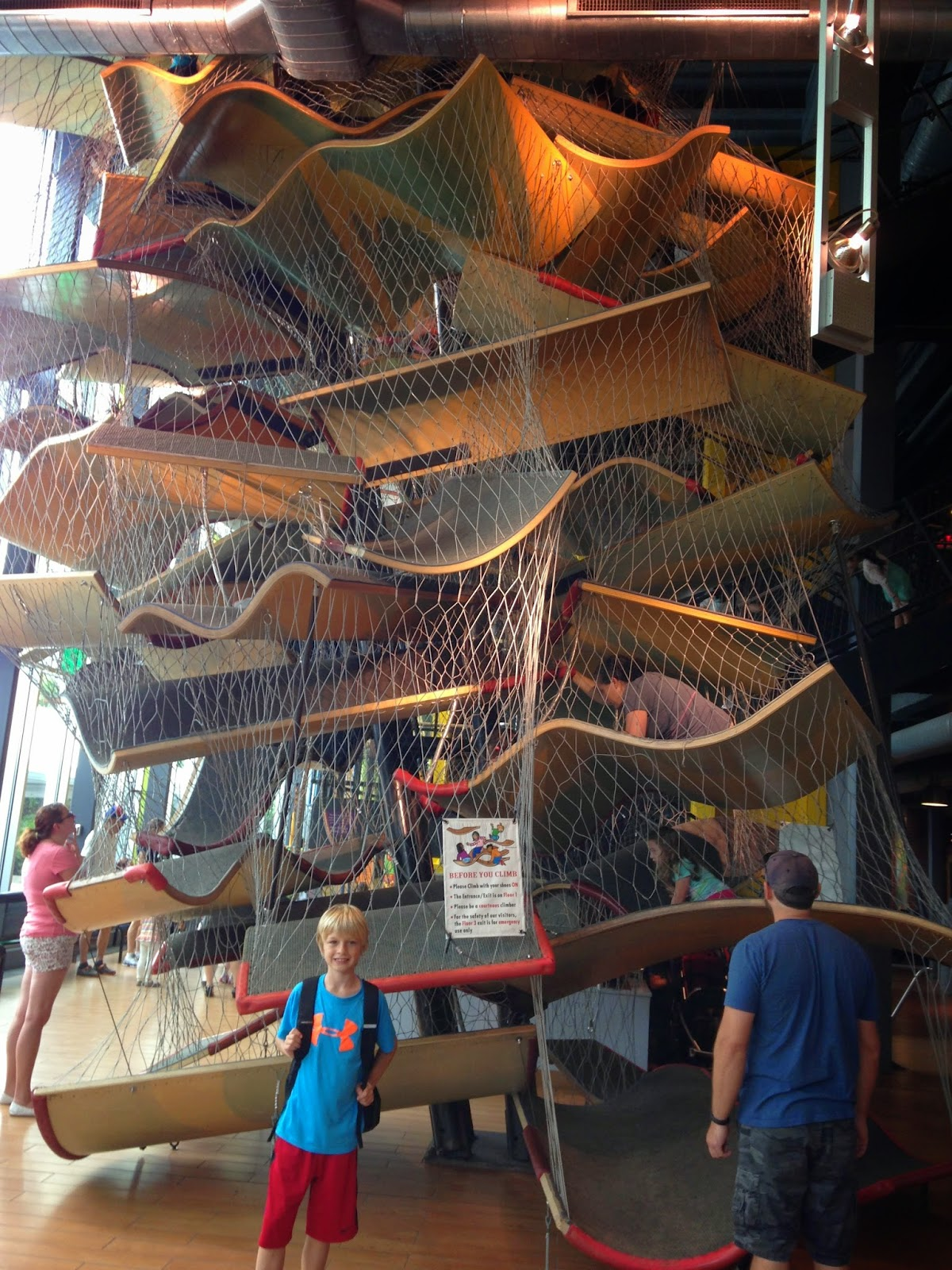Boston Children's Museum indoor climbing sculpture