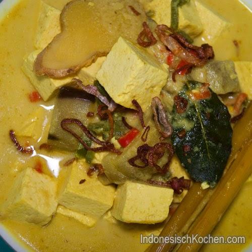 Tofu Gelbe Soße