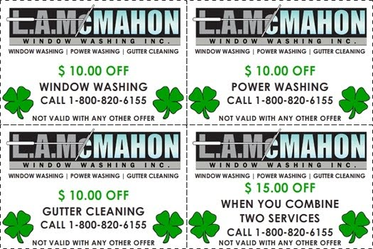 Mcmahon Window Washing And Gutter Cleaning Coupons