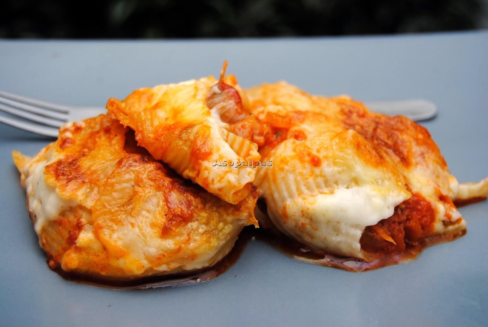 Lumaconi Rellenos con Chorizo