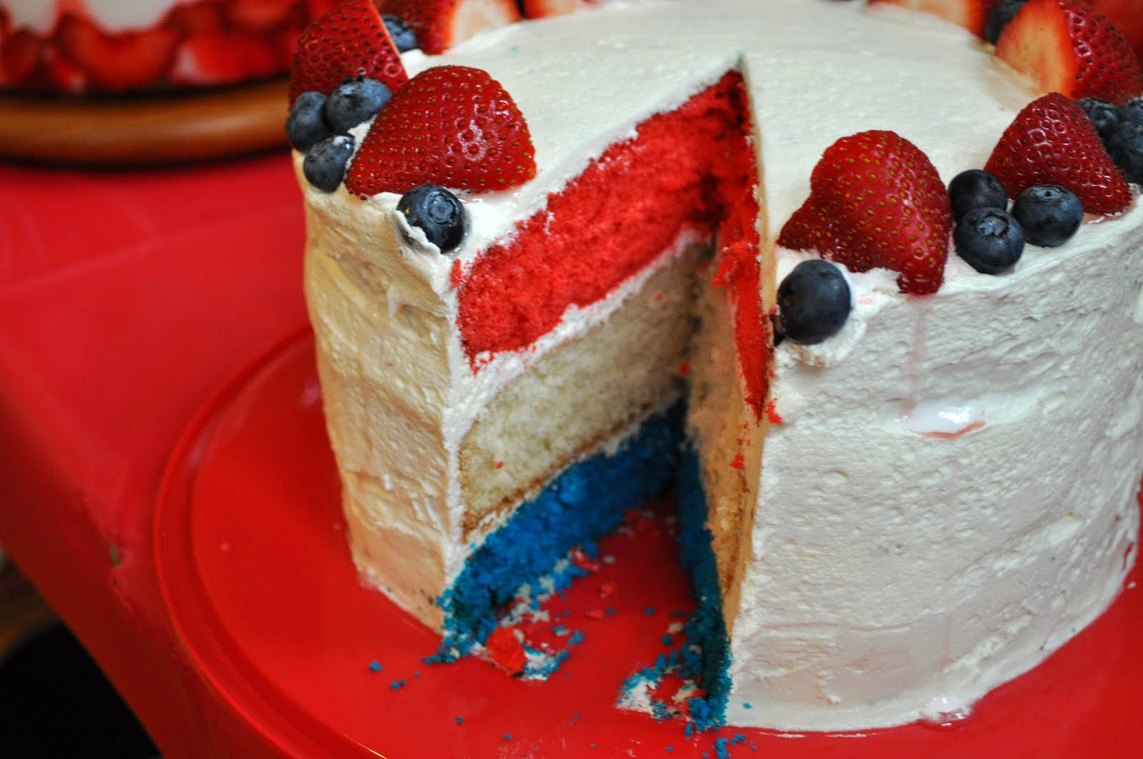 Not So Newlywed McGees: Red, White and Blue Cake
