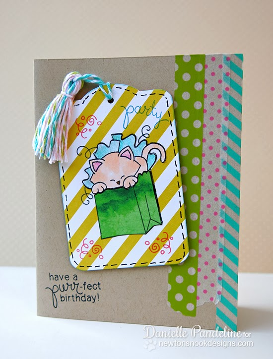 Newton's Birthday Bash Kitty Card by Danielle Pandeline for Newton's Nook Designs