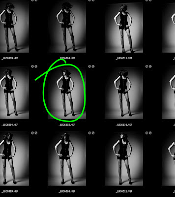 Fashion photography - Contact sheet from the test shoot