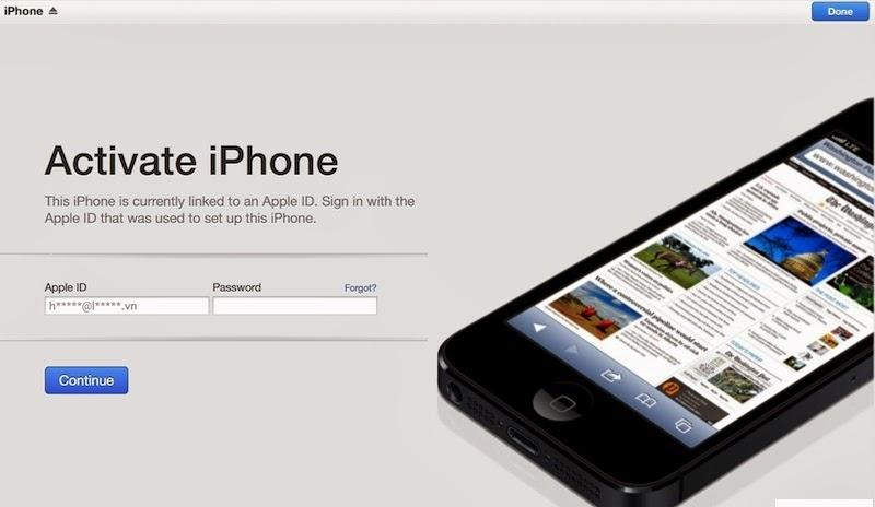 Activation Lock và những lưu ý đặc biệt trên iCloud iOS 7