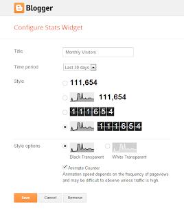 Configure Blog's Stats Gadget