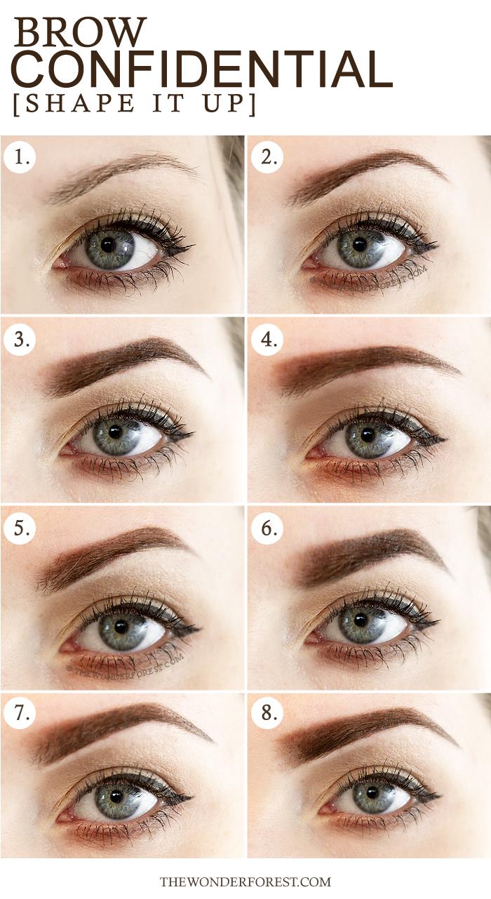 Ideal eyebrow shapes