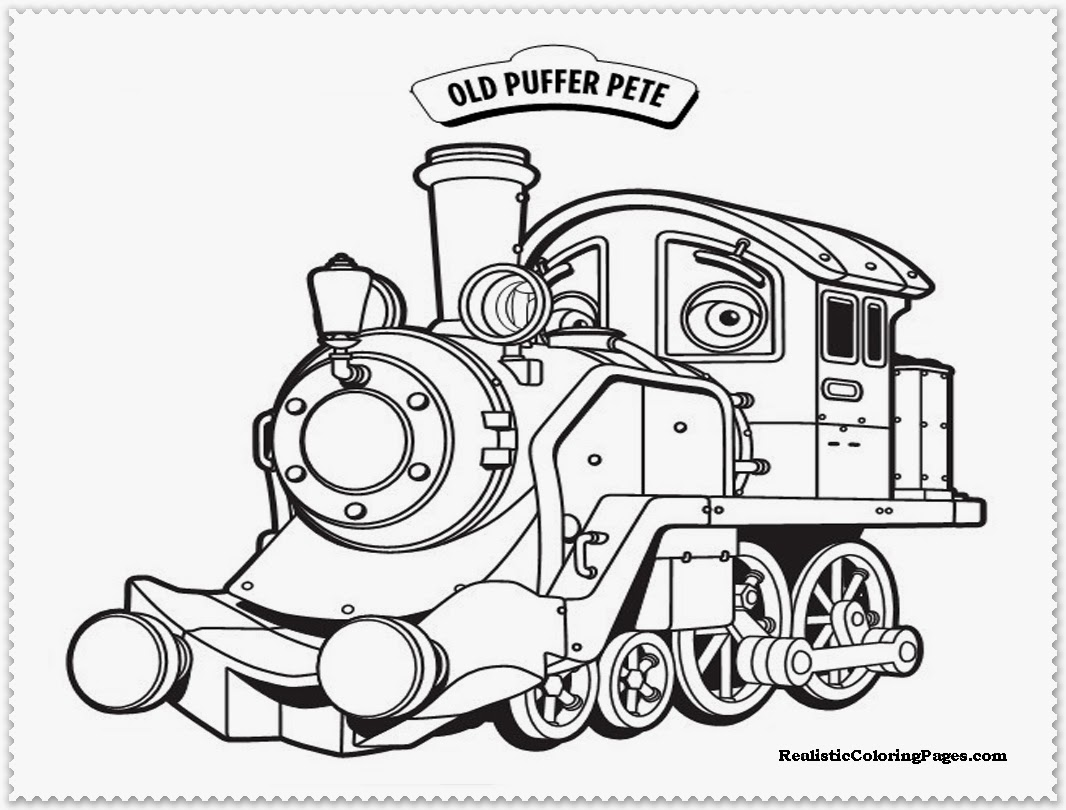 chuggington old puffer pete coloring pages