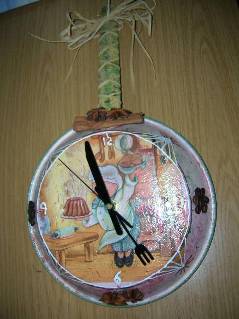 Relojes para cocina manualidades for Reloj de cocina original