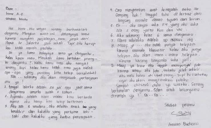 Contoh Surat Cinta Untuk Sahabat Dalam Bahasa Inggris Dan