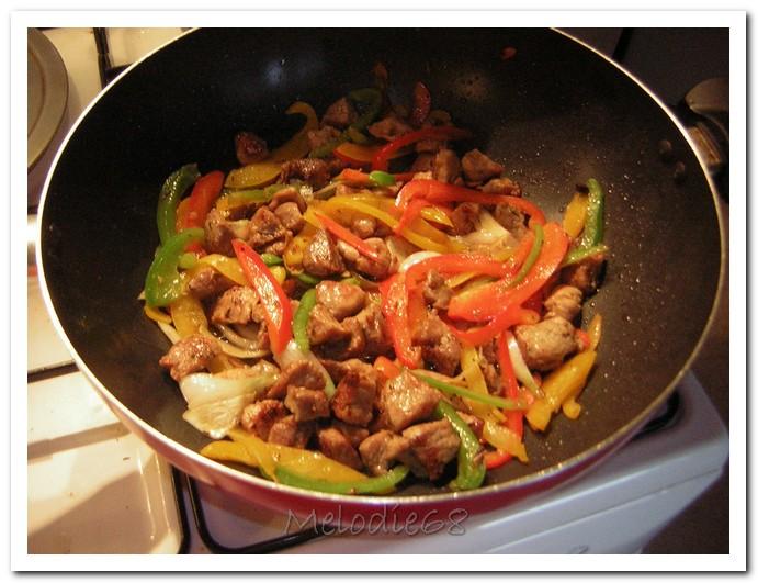 Les gourmandises de melodie68 plat du jour saut de - Cuisiner un saute de porc ...