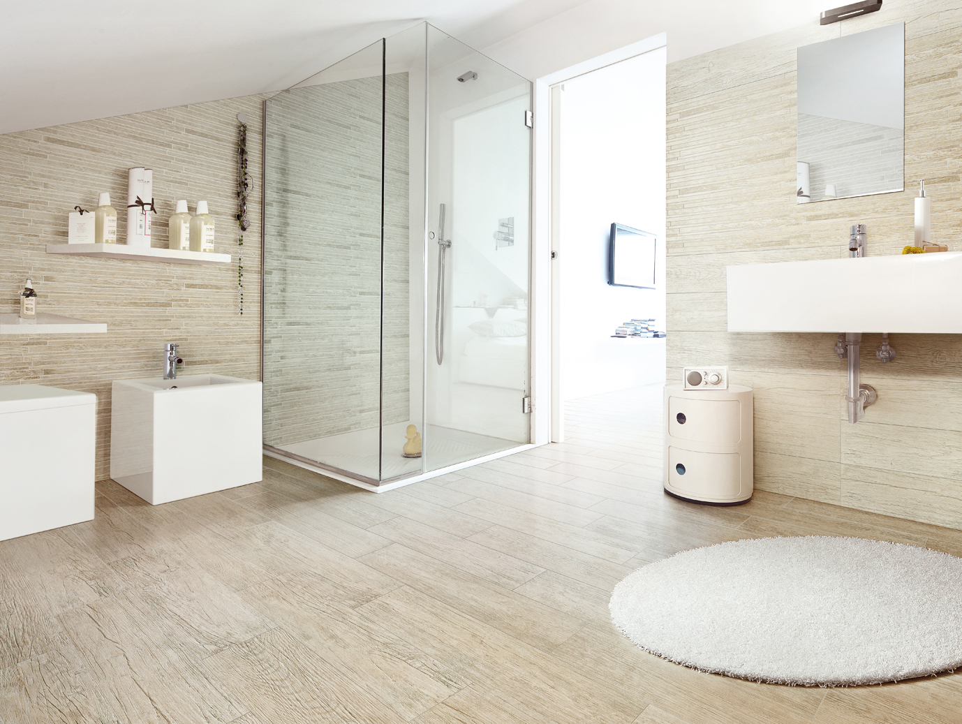 Creative Wood Flooring In Bathroom  Houzz