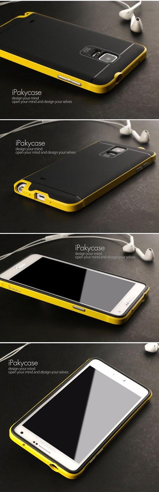 เคส Note 4 สไตล์ไฮบริดของแท้ 131003 สีเหลือง
