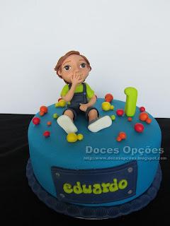 Bolo para o 1º aniversário do Eduardo