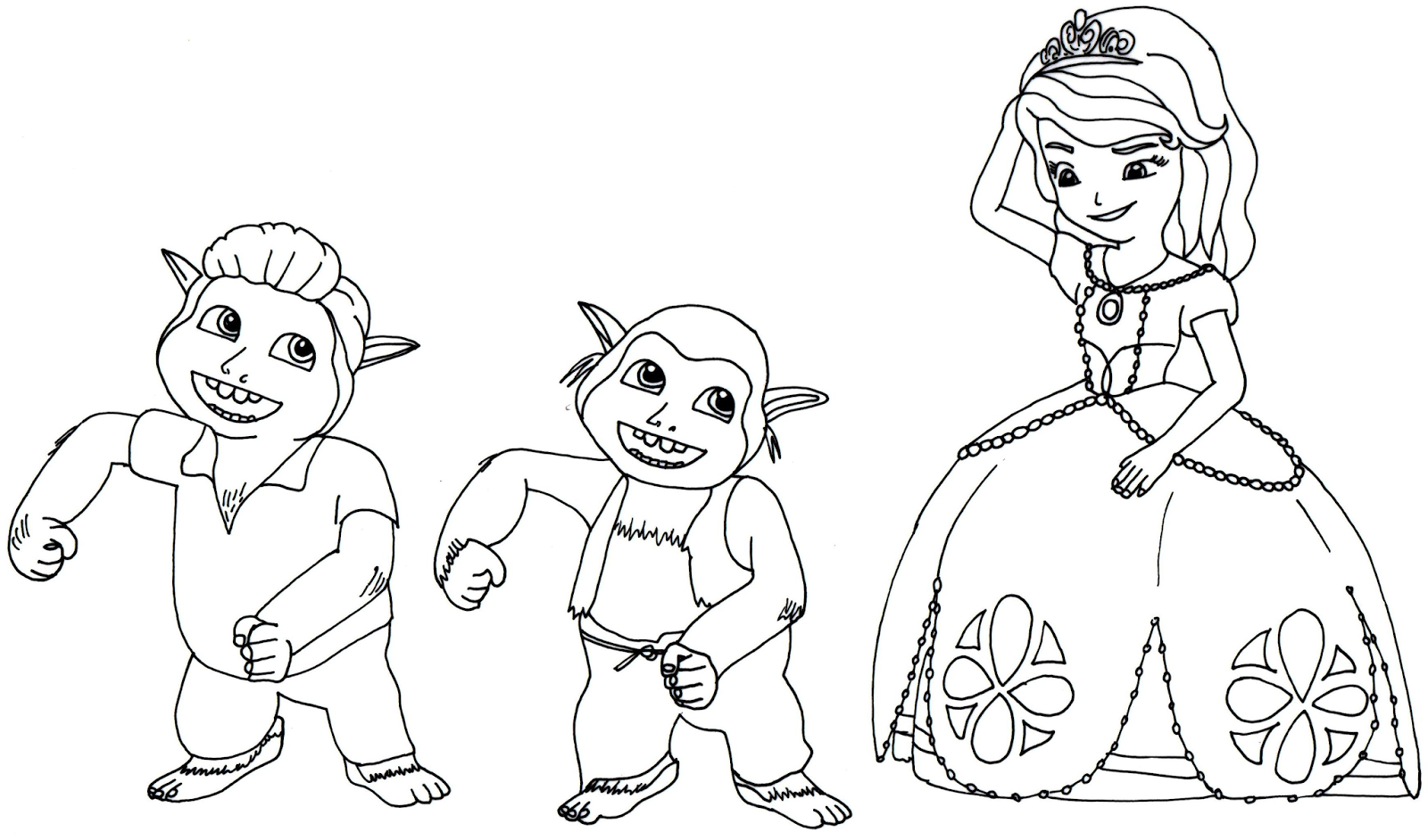 Sofia The First Coloring Pages: Sofia the First Coloring Page with ...