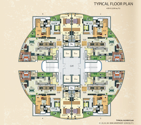 Supertech Orb Homes Sector Luxury Apartments Luxury Homes - Floor plans for luxury homes