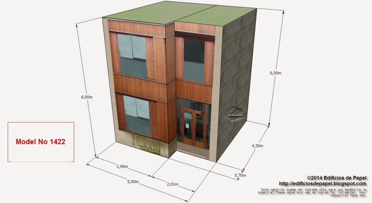 """Edificios de Papel - Nueva casa de papel model 1422, de la serie """"Ourense"""""""