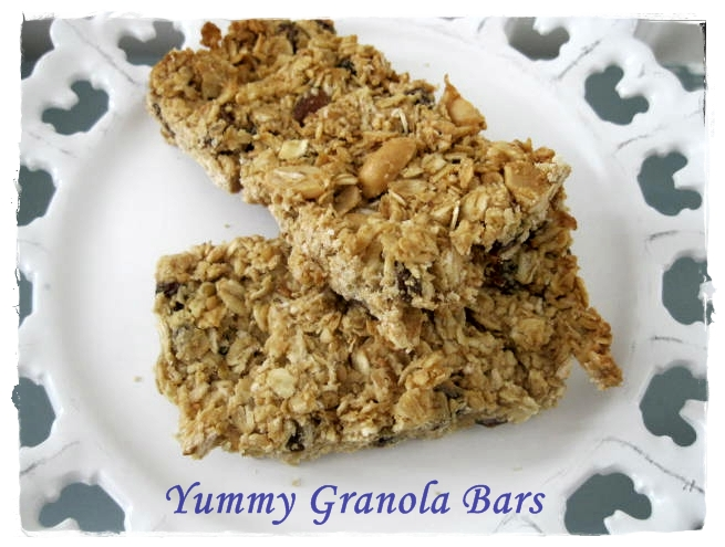 Simply Inspired Sisters: 5 Ingredient Peanut Butter Granola Bars